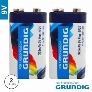 Pilha Zinco-Carvão 9V/6lr61 325ma 2x Grundig - (02044)