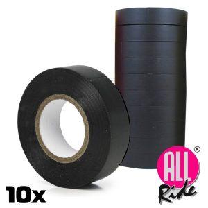 Conjunto 10 Rolos Fita Isoladora Preta All-Ride - (04235)