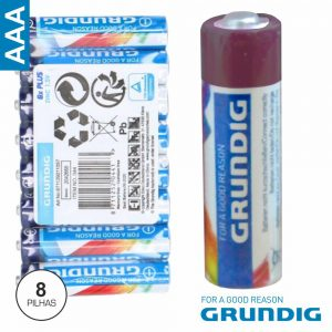 Pilha Zinco-Carvão LR03/AAA 1.5v 8x Grundig - (04416)