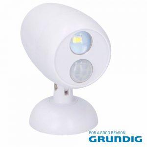 Luz De Presença 1 LED Branco E Sensor Pir Ajustável Grundi - (07451)