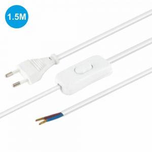 Cabo Alimentação C/ Interruptor 1.5m Branco Edh - (11.576/B)