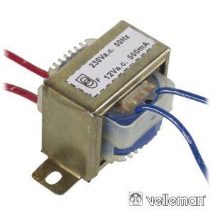 Transformador 6va 1x12V VELLEMAN - (112006C)