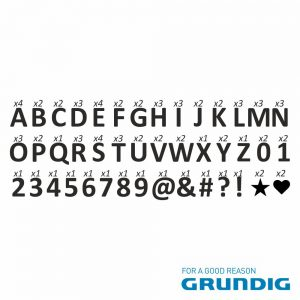 Caixa De Luz 10 LEDS 85 Letras 49.5x15x5.2cm Grundig - (11346)