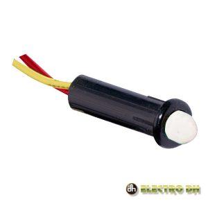 LED Piloto Alto Brilho Intermitente Vermelho 5mm 12V Edh - (12.725/5/R/BK)