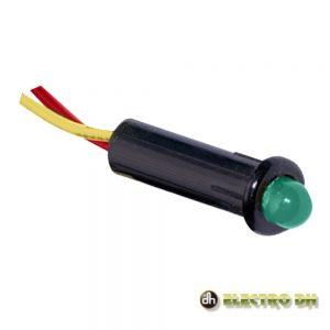 LED Piloto Alto Brilho Verde 5mm 12V EDH - (12.726/5/V)