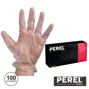 "Luvas Descartáveis Em Vinil Tam ""l"" 100x Perel - (2075-L100)"