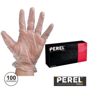 """Luvas Descartáveis Em Vinil Tam """"xl"""" 100x Perel - (2075-XL100)"""