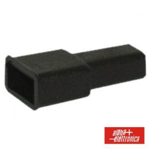 Cobertura P/ Terminais Faston 6.35mm Preto - (22-10)