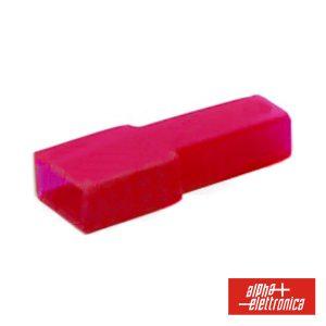 Cobertura P/ Terminais Faston 6.35mm Vermelho - (22-2)