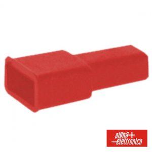 Cobertura P/ Terminais Faston 6.35mm Vermelho - (22-20)