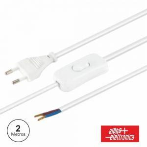 Cabo Alimentação C/ Interruptor 2m Branco - (23-001/20WB)