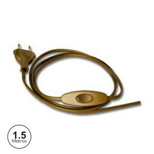 Cabo Alimentação C/ Interruptor 1.5m Dourado - (23502)