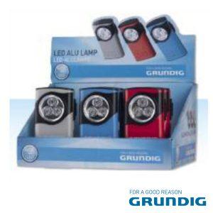 Expositor 12 Lanternas 3 LEDS 10mm Alumínio Grundig - (27129)