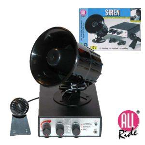 Sirene 12V 5 Alarmes C/ Microfone 125db All-Ride - (28903)