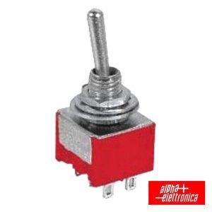 Interruptor Alavanca Miniatura (On)-Off-On Painel - (310-046)