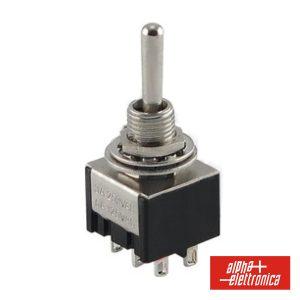 Interruptor Alavanca Miniatura (On)-Off-(On) Painel - (310-048)