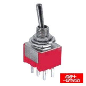 Comutador Alavanca Miniatura (On)-On Ci - (310-056)
