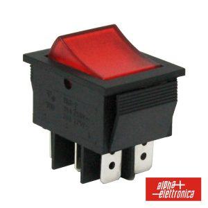 Comutador Miniatura 15a-250v Dpdt On-On - (320-010)