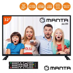 "TV LED 32"" Hd 3 HDMI USB Dvb-T/C 2 Colunas 10W MANTA - (32LHN28L)"