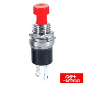 Interruptor Pressão Mini Redondo Norm Aberto Vermelho - (330-002)