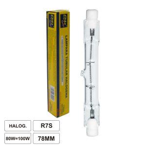 Lâmpada R7s 80W=100W 230V Eco-Halog 78mm - (35340)
