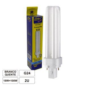 Lâmpada G24 18W=100W 230V Eco 1200lm 3200k - (35699)