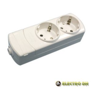 Tomada Elétrica C/ 2 Saídas Schuko Edh - (36.096/SC)