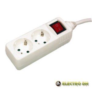 Tomada Elétrica C/ 2 Saídas E Interruptor 3m EDH - (36.192/3)