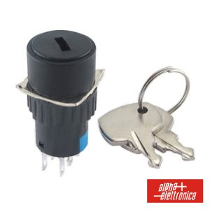 Interruptor C/ Chave De 2 Circuitos 230V 2no-2nc Redondo - (360-005)
