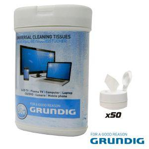 Toalhetes Humidos P/ Limpeza De Ecrans 50x Grundig - (38677)