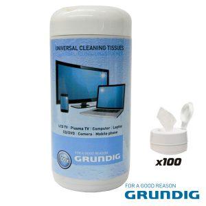 Caixa 100 Toalhetes Humidos P/ Limpeza De Ecrans Grundig - (38678)