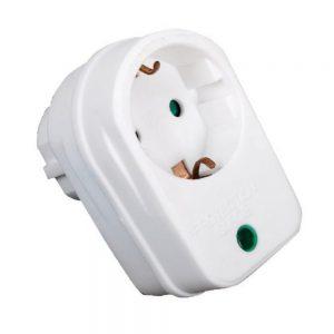 Tomada Elétrica C/ 1 Saída E Filtro Picos Branco - (40049R)