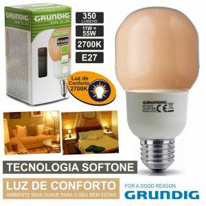 Lâmpada E27 11W=55W 230V Eco Tec. Softone 350lm Grundig - (42170259)