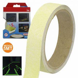 Fita Adesiva Antiderrapante 25mm Fosforescente 5m - (47180)