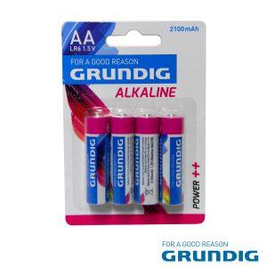 Pilha Alcalina LR6/AA 1.5v 4x Blister Grundig - (51667)