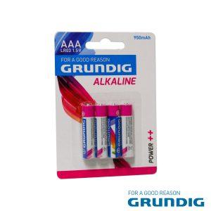 Pilha Alcalina LR03/AAA 1.5v 4x Blister Grundig - (51668)