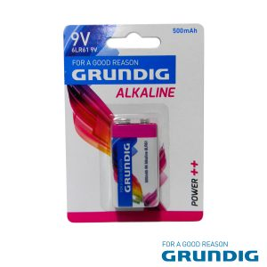Pilha Alcalina 9V/6lr61 Blister Grundig - (51676)