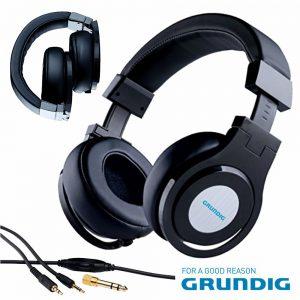 Auscultadores Stereo C/ Fios Preto Grundig - (52664)