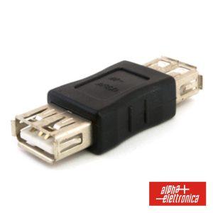 Ficha Adaptadora USB-A Fêmea / Fêmea - (64-526)