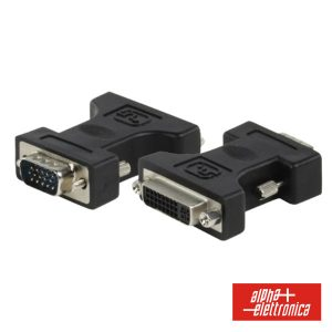 Ficha Adaptadora DVI-I Dual Link Fêmea P/ VGA Macho - (64-574/1)