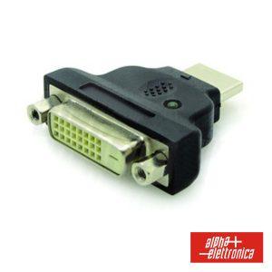 Ficha Adaptadora DVI-D Dual Link Fêmea / HDMI Macho - (64-575/1)