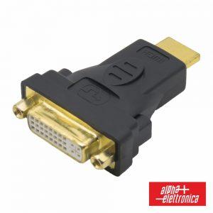 Ficha Adaptadora DVI-I Dual Link Fêmea / HDMI Macho - (64-575/2)