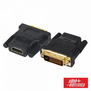 Ficha Adaptadora DVI-D Dual Link Macho / HDMI Fêmea - (64-575/3)