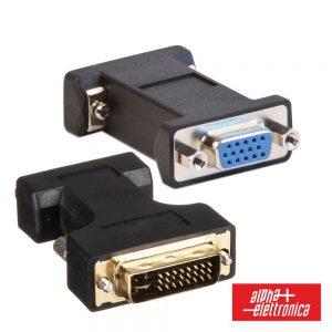 Ficha Adaptadora DVI-I Dual Link Macho / VGA Fêmea - (64-576)