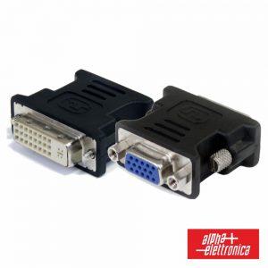 Ficha Adaptadora DVI-I Dual Link Fêmea / VGA Fêmea - (64-576/1)