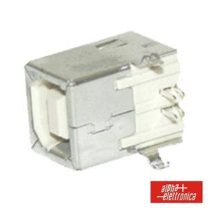 Ficha USB-B 90º Circuito Impresso - (64-584)