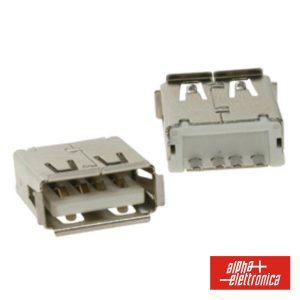 Ficha USB-A Fêmea Simples 180° P/ Ci - (64-586)