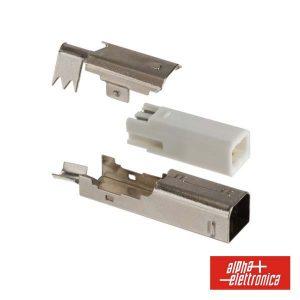 Ficha USB-B 2p Macho P/ Soldar - (64-590)