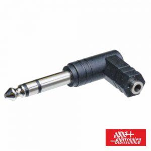 Ficha Adaptadora 6.3mm Macho St / Fêmea 3.5mm St 90º - (70-425)