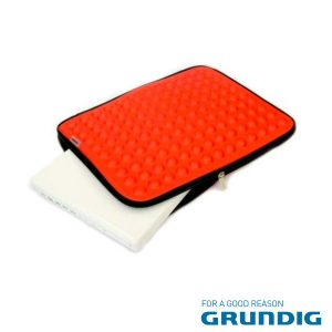 """Bolsa Laptop/Tablet 17"""" Bolhas Vermelho Grundig - (76679R)"""
